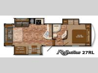 Floorplan - 2015 Grand Design Reflection 27RL