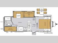 Floorplan - 2015 Forest River RV Wildcat Maxx 26BHS