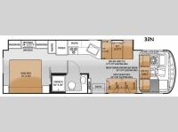 Floorplan - 2015 Thor Motor Coach Windsport 32N