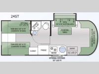 Floorplan - 2015 Thor Motor Coach Citation Sprinter 24ST