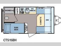 Floorplan - 2015 Dutchmen RV Coleman Expedition LT CTS15BH