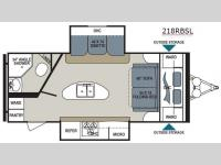 Floorplan - 2015 Dutchmen RV Aerolite 218RBSL