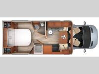 Floorplan - 2015 Leisure Travel Unity U24IB