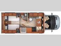 Floorplan - 2015 Leisure Travel Unity U24TB