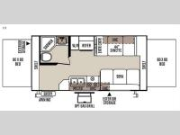 Floorplan - 2015 Forest River RV Rockwood Roo 19