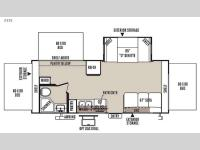 Floorplan - 2015 Forest River RV Rockwood Roo 233S