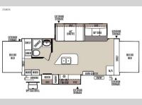 Floorplan - 2015 Forest River RV Rockwood Roo 23IKSS