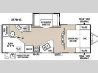 Floorplan - 2015 Coachmen RV Freedom Express 257BHS