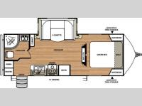 Floorplan - 2015 Forest River RV Vibe Extreme Lite 221RBS
