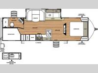 Floorplan - 2015 Forest River RV Vibe Extreme Lite 272BHS