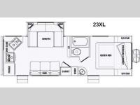 Floorplan - 2015 Pacific Coachworks Panther 23XL Xtralite