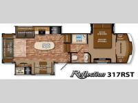 Floorplan - 2015 Grand Design Reflection 317RST