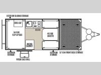 Floorplan - 2015 Forest River RV Rockwood Hard Side Series A122TH