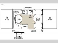 Floorplan - 2015 Forest River RV Rockwood Freedom Series 1980