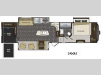 Floorplan - 2015 Keystone RV Alpine 3900RE