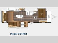 Floorplan - 2015 Prime Time RV LaCrosse 324RST