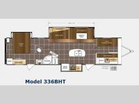 Floorplan - 2015 Prime Time RV LaCrosse 336BHT