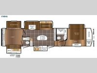 Floorplan - 2015 Prime Time RV Crusader 370BHQ