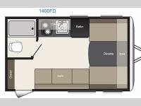 Floorplan - 2015 Keystone RV Summerland Mini 1400FD
