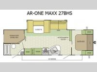 Floorplan - 2015 Starcraft AR-ONE MAXX 27BHS
