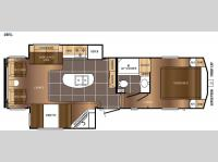 Floorplan - 2015 Prime Time RV Crusader LITE 28RL