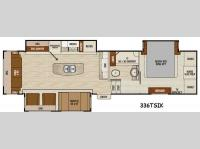 Floorplan - 2015 Coachmen RV Chaparral 336TSIK