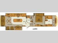 Floorplan - 2015 Lifestyle Luxury RV Lifestyle LS39FB