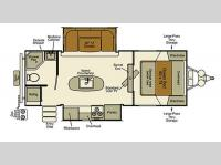 Floorplan - 2015 EverGreen RV Sun Valley S23RB