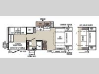 Floorplan - 2015 Forest River RV Rockwood Mini Lite 2505S