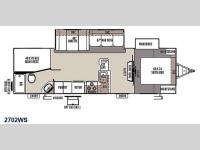 Floorplan - 2015 Forest River RV Rockwood Ultra Lite 2702WS
