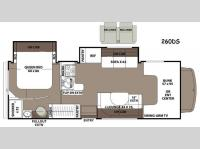 Floorplan - 2015 Coachmen RV Leprechaun 260DS Chevy 4500