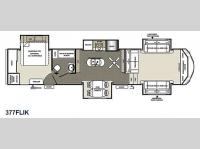 Floorplan - 2015 Forest River RV Sierra 377FLIK
