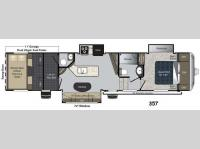 Floorplan - 2015 Keystone RV Carbon 357