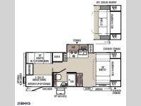 Floorplan - 2015 Forest River RV Flagstaff Micro Lite 25BHKS