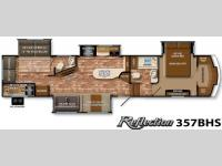 Floorplan - 2015 Grand Design Reflection 357BHS