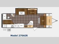 Floorplan - 2015 Prime Time RV Tracer 270AIR