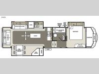 Floorplan - 2015 Forest River RV Sandpiper Select 34CK