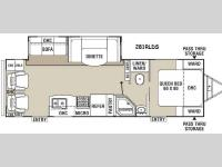 Floorplan - 2015 Coachmen RV Freedom Express 281RLDS
