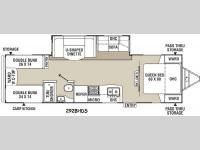 Floorplan - 2015 Coachmen RV Freedom Express 292BHDS
