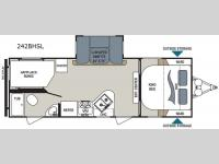 Floorplan - 2015 Dutchmen RV Aerolite 242BHSL