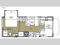Floorplan - 2015 Forest River RV Sunseeker LE 2250SLE Chevy