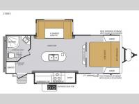 Floorplan - 2015 Forest River RV Wildcat Maxx 23DKS