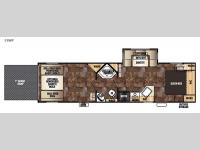 Floorplan - 2015 Forest River RV Cherokee Wolf Pack 28WP