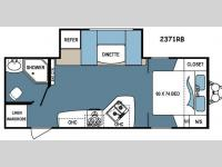 Floorplan - 2015 Dutchmen RV Denali Lite 2371RB