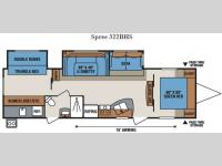 Floorplan - 2016 KZ Spree 322BHS