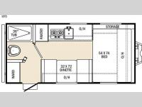 Floorplan - 2016 Coachmen RV Clipper Ultra-Lite 16FB