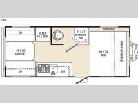 Floorplan - 2016 Coachmen RV Clipper Ultra-Lite 17RD