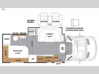 Floorplan - 2016 Coachmen RV Prism 24J
