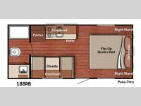 Floorplan - 2016 Gulf Stream RV Ameri Lite Super Lite 188 RB