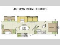 Floorplan - 2016 Starcraft Autumn Ridge 339BHTS